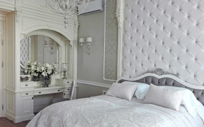 White bedroom made by AKAN Hande Made Furniture